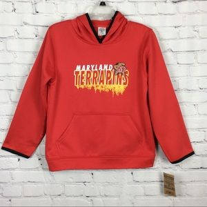NCAA Maryland Terrapins Hoodie Boys Red Tailgating